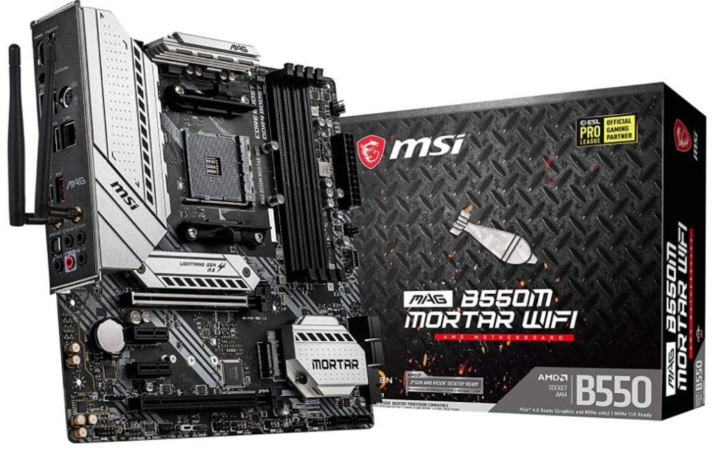 MSI MAG B550M Mortar WiFi Gaming Motherboard